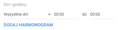 Dni i godziny Google Ads