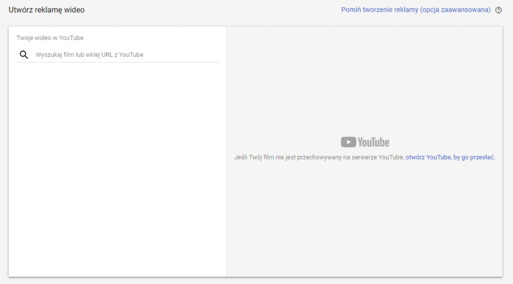 Tworzenie reklamy video w Google Ads
